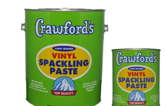 """Remember: When the sanding gets tough, the person doing the sanding better use Crawford's Vinyl Spackling Paste. Sandsational!"""